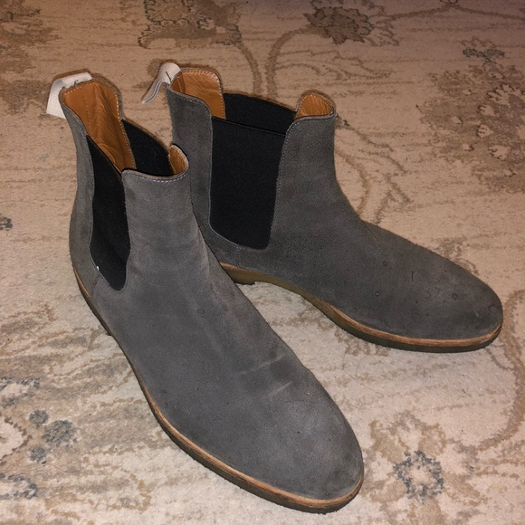Common Projects Chelsea Boots Grey